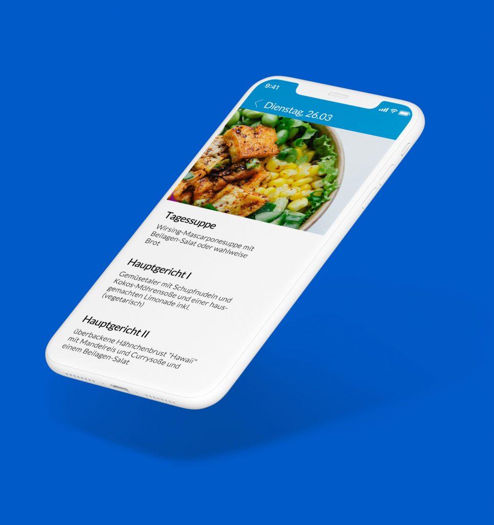 iPhone Mockup der Mitarbeiter-App